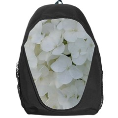 Hydrangea Flowers Blossom White Floral Photography Elegant Bridal Chic  Backpack Bag