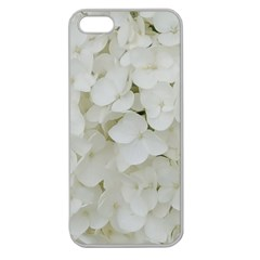 Hydrangea Flowers Blossom White Floral Photography Elegant Bridal Chic  Apple Seamless iPhone 5 Case (Clear)