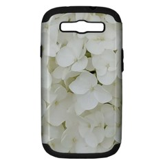 Hydrangea Flowers Blossom White Floral Photography Elegant Bridal Chic  Samsung Galaxy S III Hardshell Case (PC+Silicone)