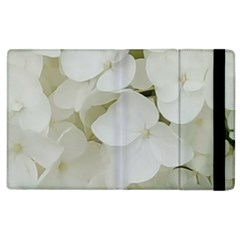 Hydrangea Flowers Blossom White Floral Photography Elegant Bridal Chic  Apple iPad 2 Flip Case