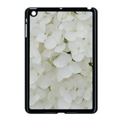 Hydrangea Flowers Blossom White Floral Photography Elegant Bridal Chic  Apple iPad Mini Case (Black)