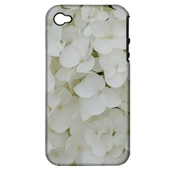 Hydrangea Flowers Blossom White Floral Photography Elegant Bridal Chic  Apple iPhone 4/4S Hardshell Case (PC+Silicone)