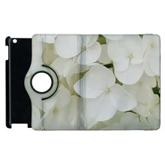 Hydrangea Flowers Blossom White Floral Photography Elegant Bridal Chic  Apple iPad 2 Flip 360 Case