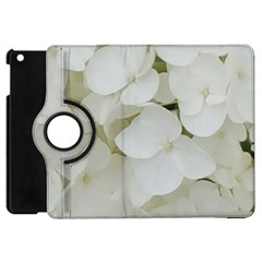 Hydrangea Flowers Blossom White Floral Photography Elegant Bridal Chic  Apple iPad Mini Flip 360 Case