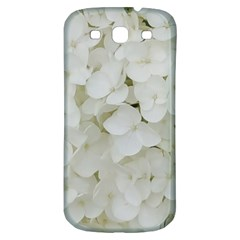 Hydrangea Flowers Blossom White Floral Photography Elegant Bridal Chic  Samsung Galaxy S3 S III Classic Hardshell Back Case