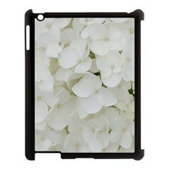 Hydrangea Flowers Blossom White Floral Photography Elegant Bridal Chic  Apple iPad 3/4 Case (Black)