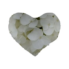 Hydrangea Flowers Blossom White Floral Photography Elegant Bridal Chic  Standard 16  Premium Heart Shape Cushions