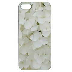 Hydrangea Flowers Blossom White Floral Photography Elegant Bridal Chic  Apple iPhone 5 Hardshell Case with Stand
