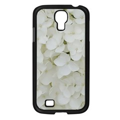 Hydrangea Flowers Blossom White Floral Photography Elegant Bridal Chic  Samsung Galaxy S4 I9500/ I9505 Case (Black)