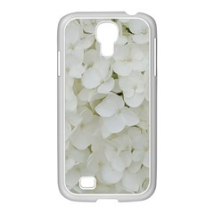 Hydrangea Flowers Blossom White Floral Photography Elegant Bridal Chic  Samsung GALAXY S4 I9500/ I9505 Case (White)