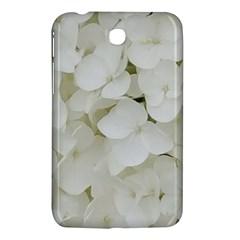 Hydrangea Flowers Blossom White Floral Photography Elegant Bridal Chic  Samsung Galaxy Tab 3 (7 ) P3200 Hardshell Case