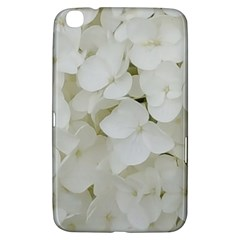Hydrangea Flowers Blossom White Floral Photography Elegant Bridal Chic  Samsung Galaxy Tab 3 (8 ) T3100 Hardshell Case