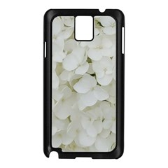 Hydrangea Flowers Blossom White Floral Photography Elegant Bridal Chic  Samsung Galaxy Note 3 N9005 Case (Black)