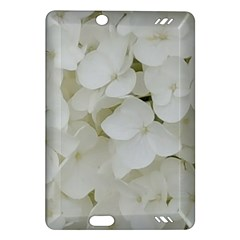 Hydrangea Flowers Blossom White Floral Photography Elegant Bridal Chic  Amazon Kindle Fire HD (2013) Hardshell Case
