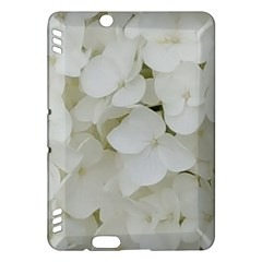 Hydrangea Flowers Blossom White Floral Photography Elegant Bridal Chic  Kindle Fire HDX Hardshell Case