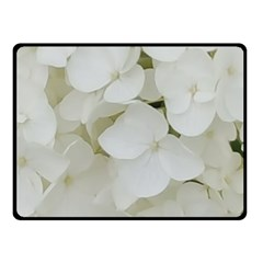 Hydrangea Flowers Blossom White Floral Photography Elegant Bridal Chic  Double Sided Fleece Blanket (Small)