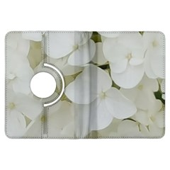 Hydrangea Flowers Blossom White Floral Photography Elegant Bridal Chic  Kindle Fire HDX Flip 360 Case