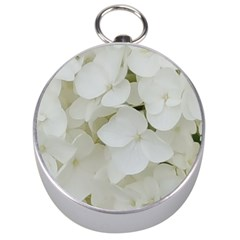 Hydrangea Flowers Blossom White Floral Photography Elegant Bridal Chic  Silver Compasses