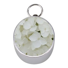 Hydrangea Flowers Blossom White Floral Photography Elegant Bridal Chic  Mini Silver Compasses