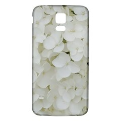 Hydrangea Flowers Blossom White Floral Photography Elegant Bridal Chic  Samsung Galaxy S5 Back Case (White)