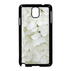 Hydrangea Flowers Blossom White Floral Photography Elegant Bridal Chic  Samsung Galaxy Note 3 Neo Hardshell Case (Black)