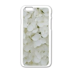 Hydrangea Flowers Blossom White Floral Photography Elegant Bridal Chic  Apple iPhone 6/6S White Enamel Case