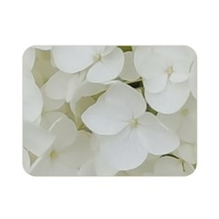 Hydrangea Flowers Blossom White Floral Photography Elegant Bridal Chic  Double Sided Flano Blanket (Mini)