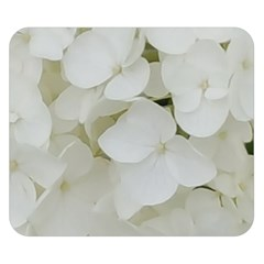 Hydrangea Flowers Blossom White Floral Photography Elegant Bridal Chic  Double Sided Flano Blanket (Small)