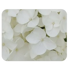 Hydrangea Flowers Blossom White Floral Photography Elegant Bridal Chic  Double Sided Flano Blanket (Medium)