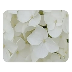 Hydrangea Flowers Blossom White Floral Photography Elegant Bridal Chic  Double Sided Flano Blanket (Large)