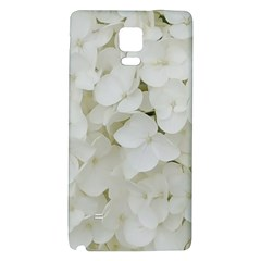 Hydrangea Flowers Blossom White Floral Photography Elegant Bridal Chic  Galaxy Note 4 Back Case