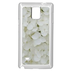 Hydrangea Flowers Blossom White Floral Photography Elegant Bridal Chic  Samsung Galaxy Note 4 Case (White)