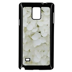 Hydrangea Flowers Blossom White Floral Photography Elegant Bridal Chic  Samsung Galaxy Note 4 Case (Black)
