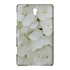 Hydrangea Flowers Blossom White Floral Photography Elegant Bridal Chic  Samsung Galaxy Tab S (8.4 ) Hardshell Case