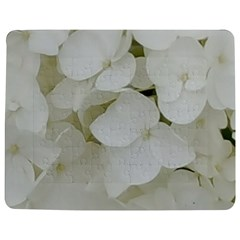 Hydrangea Flowers Blossom White Floral Photography Elegant Bridal Chic  Jigsaw Puzzle Photo Stand (Rectangular)