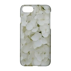 Hydrangea Flowers Blossom White Floral Photography Elegant Bridal Chic  Apple iPhone 7 Hardshell Case