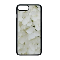 Hydrangea Flowers Blossom White Floral Photography Elegant Bridal Chic  Apple iPhone 7 Plus Seamless Case (Black)