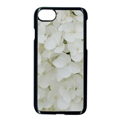 Hydrangea Flowers Blossom White Floral Photography Elegant Bridal Chic  Apple iPhone 7 Seamless Case (Black)