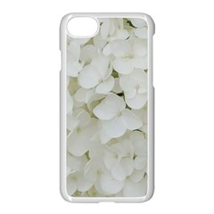 Hydrangea Flowers Blossom White Floral Photography Elegant Bridal Chic  Apple iPhone 7 Seamless Case (White)