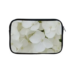 Hydrangea Flowers Blossom White Floral Photography Elegant Bridal Chic  Apple MacBook Pro 13  Zipper Case