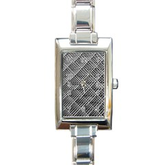 Pattern Metal Pipes Grid Rectangle Italian Charm Watch
