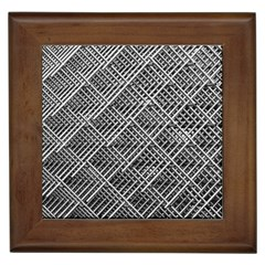 Pattern Metal Pipes Grid Framed Tiles