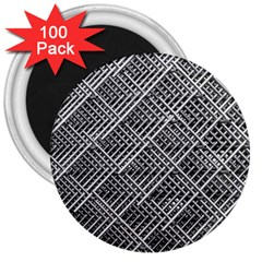 Pattern Metal Pipes Grid 3  Magnets (100 Pack)