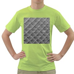 Pattern Metal Pipes Grid Green T Shirt