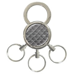 Pattern Metal Pipes Grid 3 Ring Key Chains