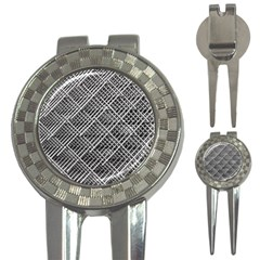 Pattern Metal Pipes Grid 3-in-1 Golf Divots