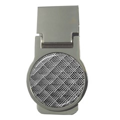Pattern Metal Pipes Grid Money Clips (Round)