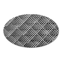 Pattern Metal Pipes Grid Oval Magnet