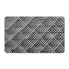 Pattern Metal Pipes Grid Magnet (rectangular)