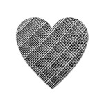 Pattern Metal Pipes Grid Heart Magnet Front